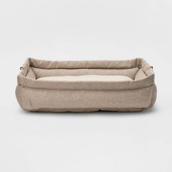 Rectangular Roll Cuff Dog Beds - Boots & Barkley™