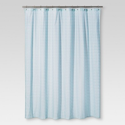 Zigzag Shower Curtain Aqua - Threshold™