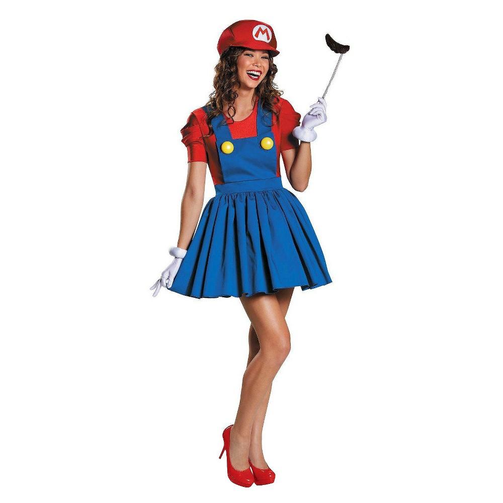 Women's Super Mario: Mario Skirt Costume - Medium, Red