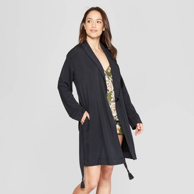 Women's Beautifully Soft Robe - Stars Above™ Black XS/S