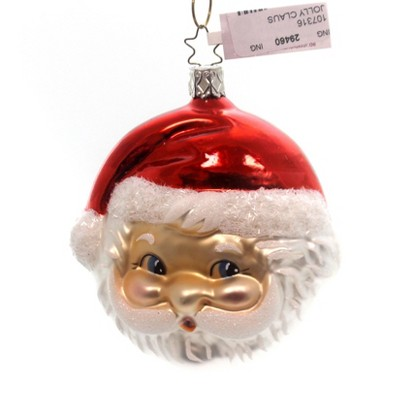 Inge Glas Jolly Claus Santa Ornament Two Sided  -  Tree Ornaments