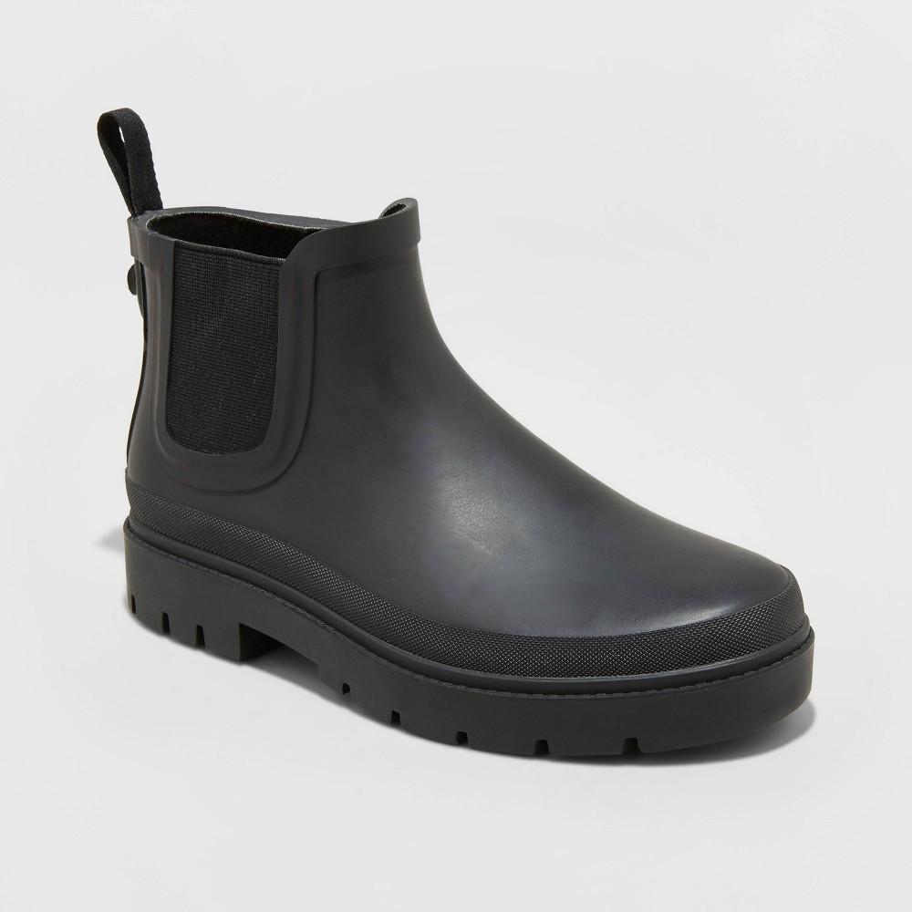Women's Kaden Rubber Double Gore Rain Boots Universal Thread Black 5, Women's