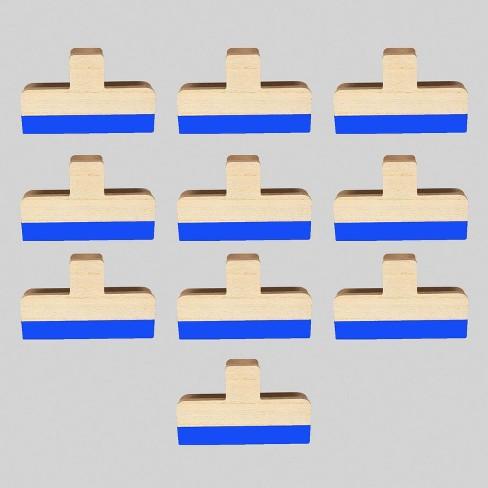 10pk Wood Wall Clips Blue - Bullseye's Playground™ - image 1 of 2