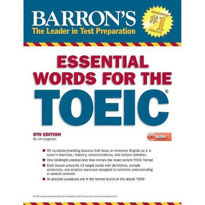 Essential Words for the Toeic with MP3 CD - (Barron's Test Prep) 6th Edition by  Lin Lougheed (Paperback)