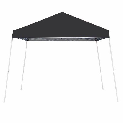 Z-Shade 10' x 10' Angled Leg Instant Shade Canopy Tent Portable Shelter, Black