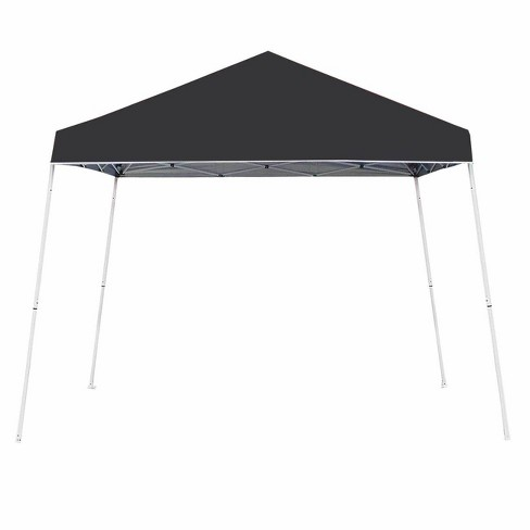 Z-Shade 10 x 10 Foot Angled Leg Instant Shade Outdoor Canopy Tent Portable Shelter with Durable Steel Frame and Carrying Bag, Black - image 1 of 4