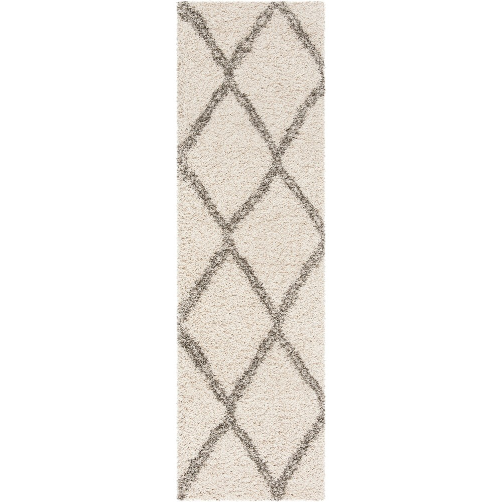 22X8 Geometric Loomed Runner Ivory/Gray - Safavieh Cheap