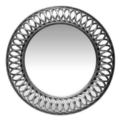 "Lattice Silver 22.75"" Wall Mirror Silver - Infinity Instruments - image 1 of 5"