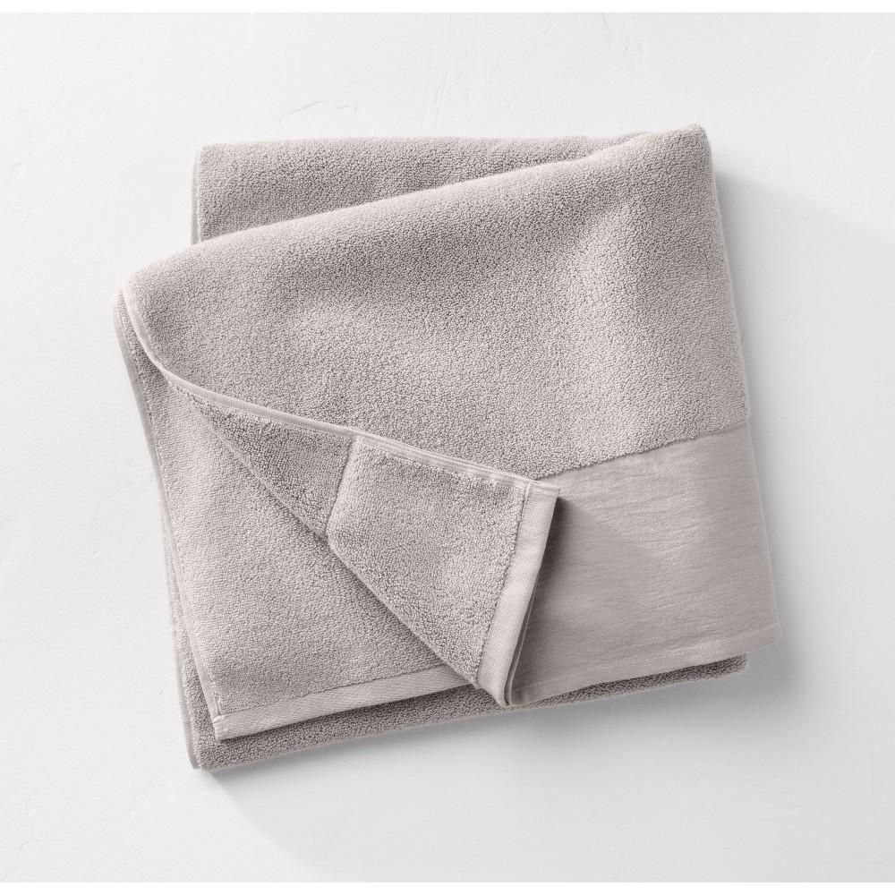 Linen Cuff Bath Towel Gray Casaluna 8482