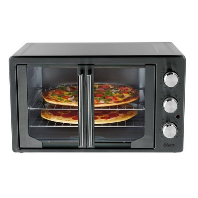 Oster Metallic & Charcoal French Door Oven with Convection