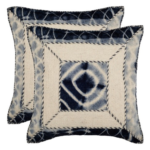 Dip-Dye Patch Throw Pillow - Safavieh - image 1 of 3