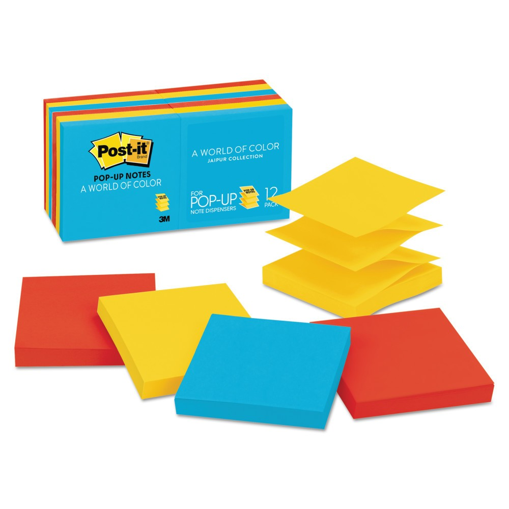 Post-it Post - it Pop - Up Note Refills 3 x 3 - 100 Sheet Pads Per Pack, Multi-Colored