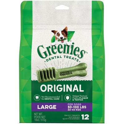 Greenies Large Original Dental Dog Treats - 12ct/18oz