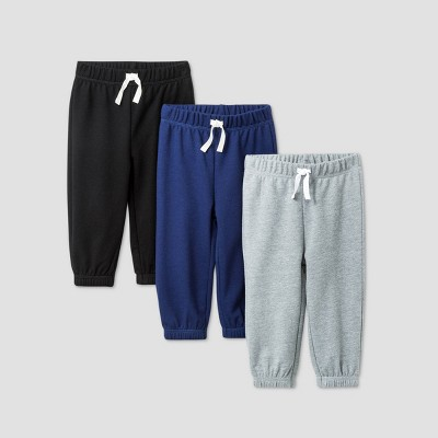 Baby Boys' 3pk Jogger Pants - Cat & Jack™ Gray 0-3M