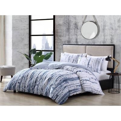 Sokal Comforter & Sham Set Indigo Blue - City Scene
