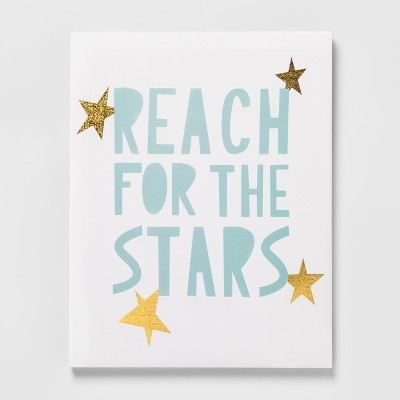 Reach for the Starts Decorative Wall Art (14 x11 x1.5 )- Pillowfort™
