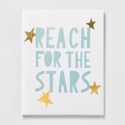 Reach for the stars motivation inspiration Nursery Wall Decor Art Poster Print