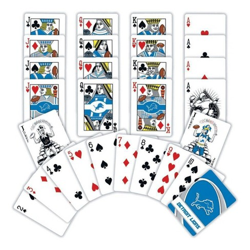 MLB Detroit Lions Playing Card Game 2pk - image 1 of 2