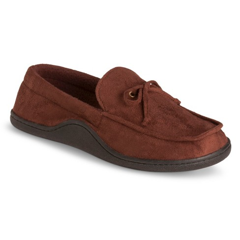 Impressions by Isotoner Men's Brown Moccasin Slippers - image 1 of 3