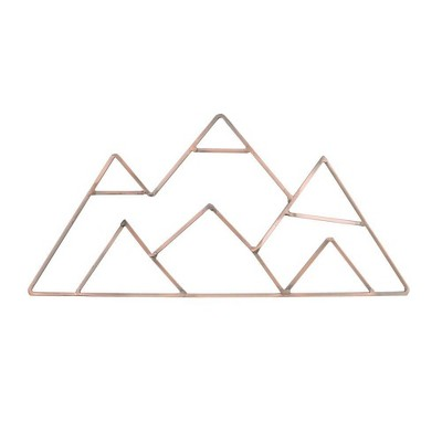 NoJo Mountain Shaped Wire Nursery Wall Décor Copper Finish