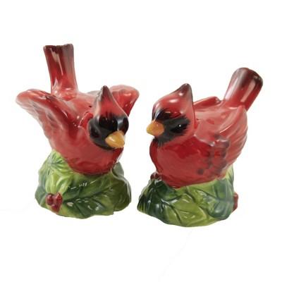 """Tabletop 3.0"""" Winters Garden Salt & Pepper Cardinals Certified International  -  Salt And Pepper Shaker Sets"""