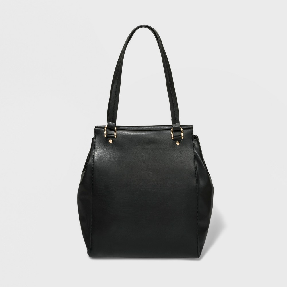 Iris Tote Handbag - A New Day Black, Women's, Size: Large