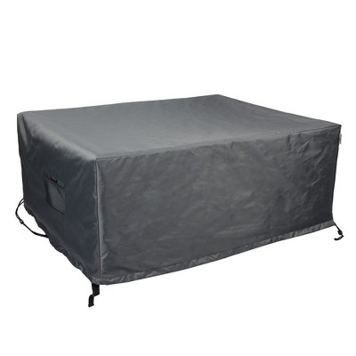 Shield Titanium 3-Layer Polyester Water Resistant Outdoor Dining Set Cover, Dark Grey