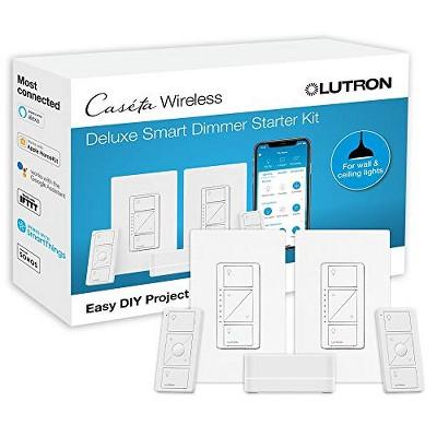Lutron Caseta Wireless Deluxe Smart Lamp Dimmer Kit P-BDG-PKG2W-A - 2pc