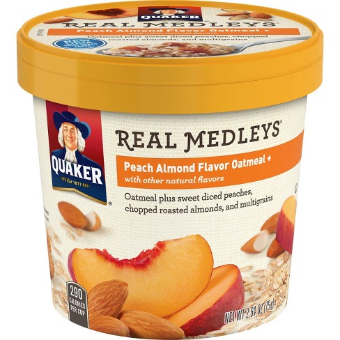 Quaker Real Medleys Peach Almond Oatmeal Cup - 2.64oz - image 1 of 4