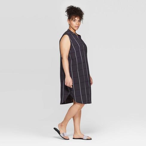 Women\'s Plus Size Strapless Deep V-Neck Tunic Dress - Prologue™