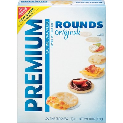 Crackers: Premium Rounds Original Saltine Crackers