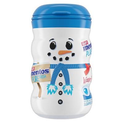 Mentos Fresh Mint Holiday Snowman Chewing Gum - 3.53oz