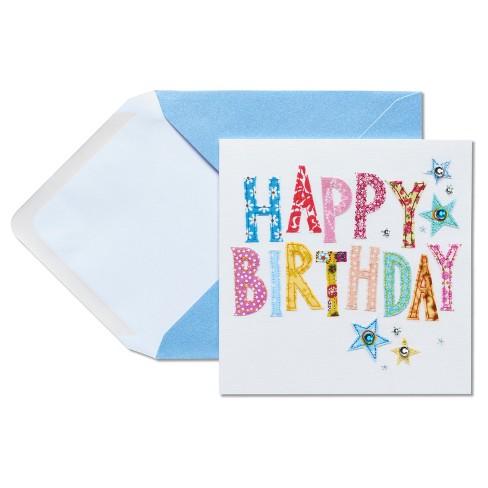 Papyrus Happy Birthday Stitching Birthday Card Target
