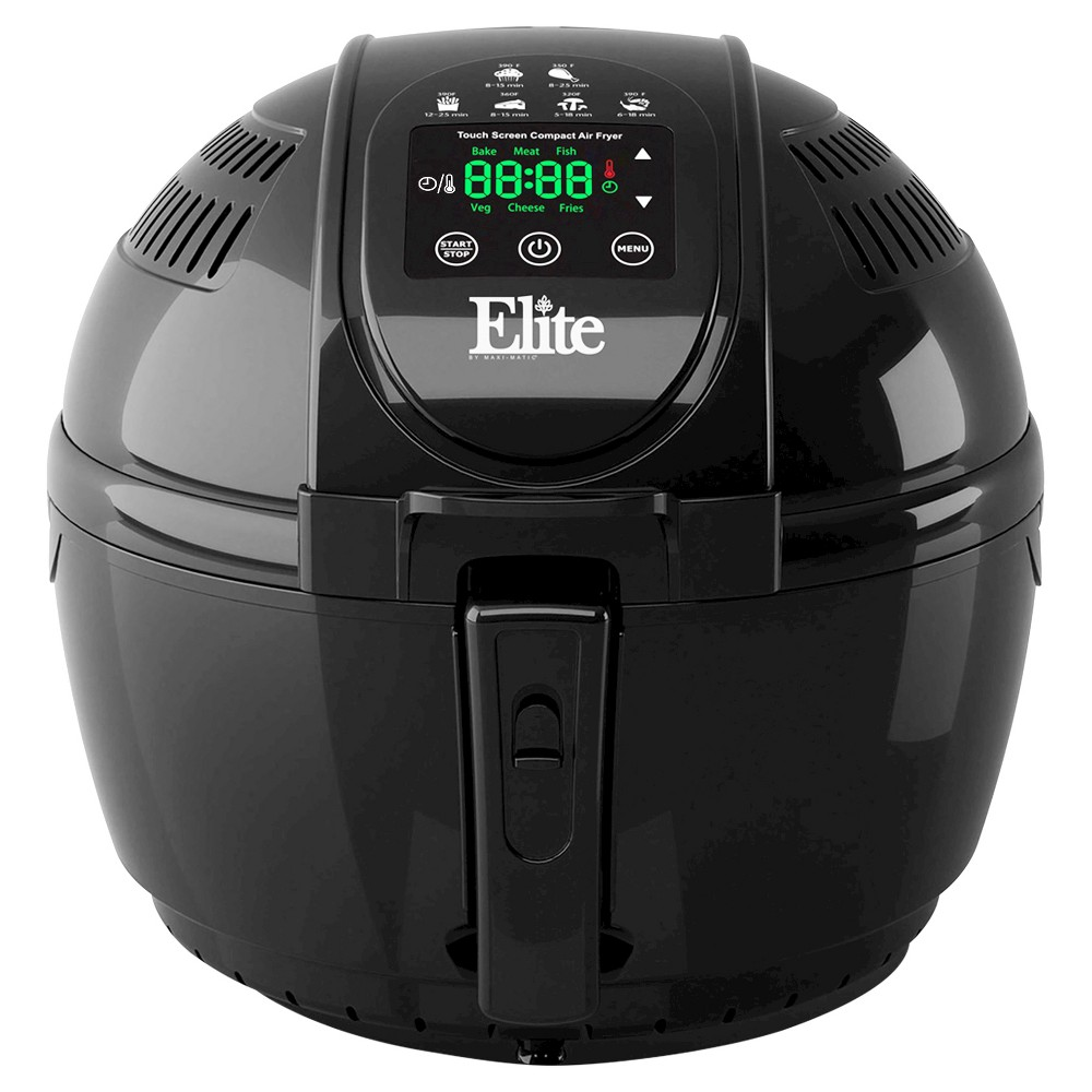 Elite Platinum 3.5qt Digital Air Fryer in Black 49122925