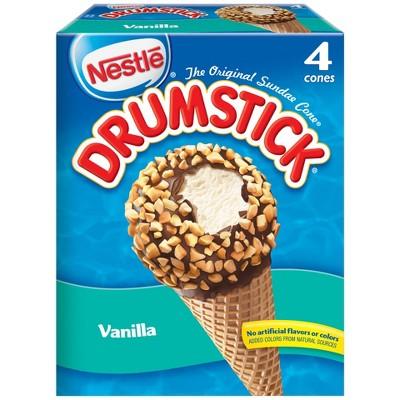 Nestle Vanilla Drumstick Ice Cream Cone - 4ct