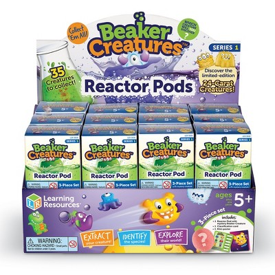 Learning Resources Beaker Creatures Reactor Pod, 24 Pack Pods, Assorted Colors, Ages 5+
