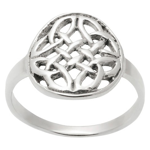 Women's Journee Collection Celtic Circle Ring in Sterling Silver - Silver - image 1 of 2