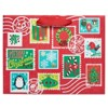 Papyrus Holiday Retro Stamps Large Gift Bag - image 4 of 4