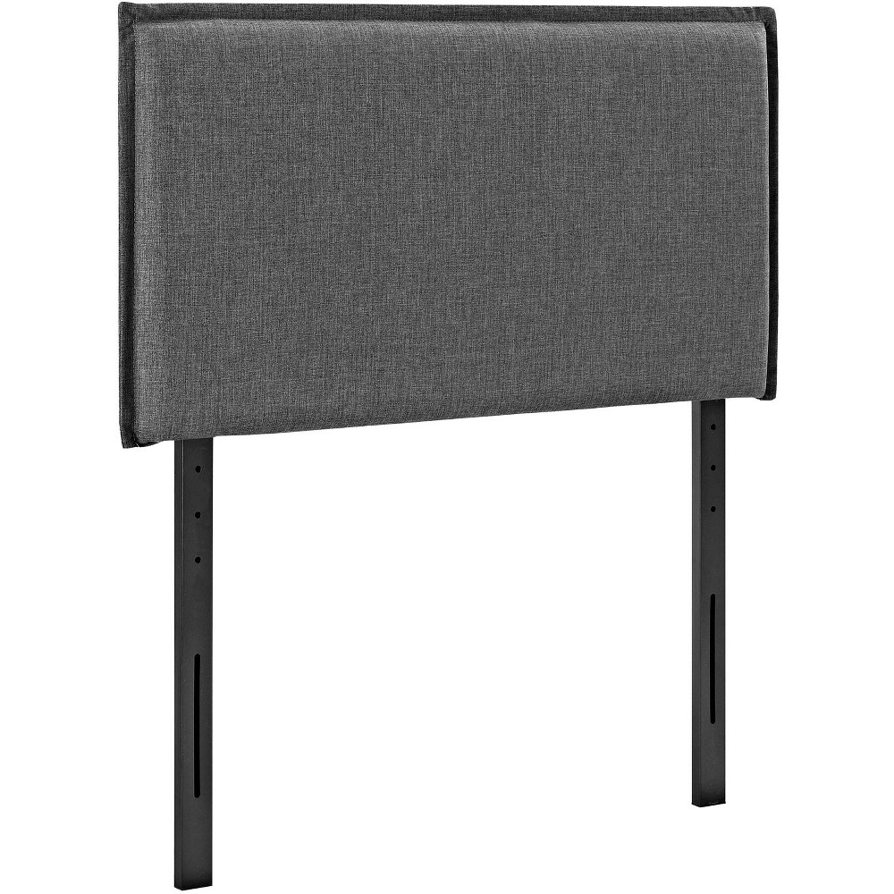 Camille Twin Upholstered Fabric Headboard Gray - Modway