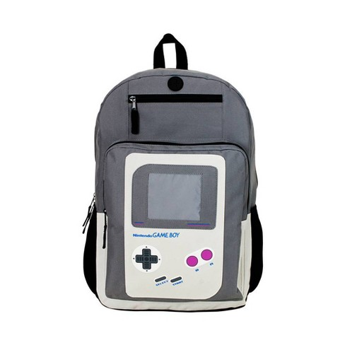 "Nintendo Gameboy 18"" Backpack - Black/Gray - image 1 of 5"