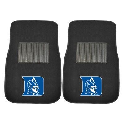 NCAA University of Duke Blue Devils Embroidered Car Mat Set - 2pc