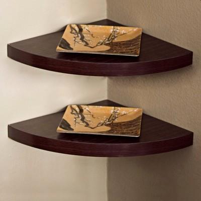 Set of 2 Large Corner Shelves (11.5 )