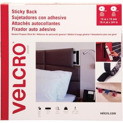 """Velcro Fastener Hook-and-Loop Tape 3/4""""Wx49'Lx1/4""""H Black 30631"""