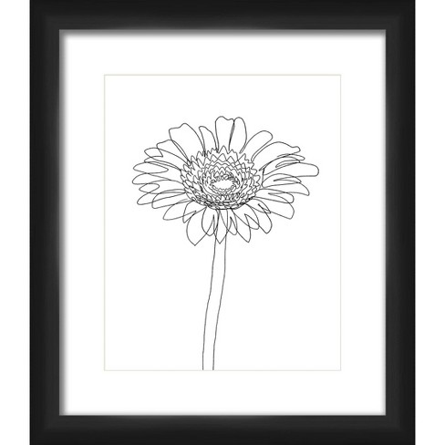 """13"""" x 15"""" Matted to 2"""" Sunflower Picture Framed Black - PTM Images - image 1 of 4"""
