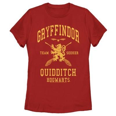 Women's Harry Potter Gryffindor Quidditch Gold Team Seeker T-Shirt
