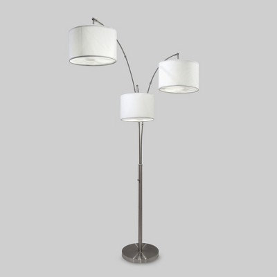 Avenal Shaded Arc Floor Lamp Brushed Nickel (Includes LED Light Bulb)- Project 62™