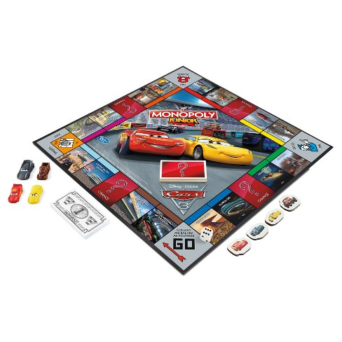 monopoly junior disney pixar cars lightning mcqueen game edition 3