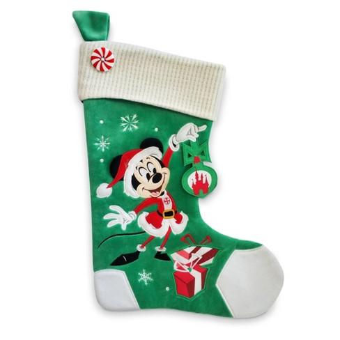 Mickey Felt Applique Christmas Stocking Disney Store