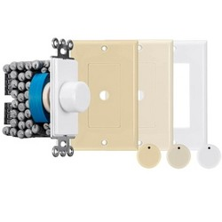 Monoprice 120-Watt Rotary Resistance Speaker Volume Control, 12-Position Switch, 36dB Attenuation, Solderless Speaker Terminals