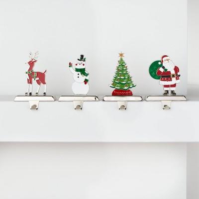 4pk Classic Christmas Icons Stocking Holder - Wondershop™